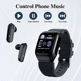 2-In-1 Smart Watch TWS Earbuds Fitness Tracker True Wireless Bluetooth 5.0 Headphones Pedometer Calorie Counter Activity