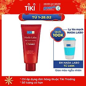 Sữa rửa mặt dưỡng chuyên biệt chống lão hóa Hada Labo Pro Anti Aging α Lifting Cleanser (80g)