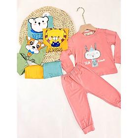 Combo 3 bộ quần áo dài tay cho bé, bộ thun lạnh cotton mềm mại cho bé