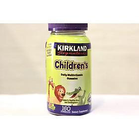 Kẹo Dẻo bổ sung nhập Mỹ Vitamin cho bé Kirkland Childrens Complete Multivitamin Gummies 160 viên