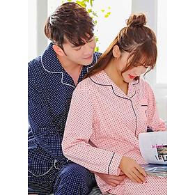Bộ Pyjamas Tay Dài Chấm Bi Nanjiren