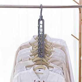 Combo 5 móc treo quần áo đa năng 9 lỗ chịu lực tốt