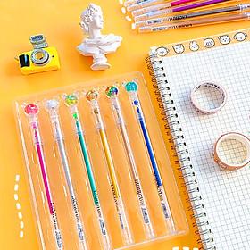 Set 6 bút nhũ màu dạ quang cao cấp đủ màu sắc tiện lợi ngòi bút êm mực đều đa năng– H047