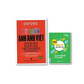 Từ Điển Oxford Anh - Anh - Việt  ( bìa đỏ cứng ) ( tặng kèm 360 động từ bất quy tắc và 12 thi cơ bản trong Tiếng Anh)