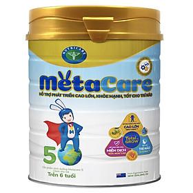 Sữa bột Nutricare Metacare 5 Mới - phát triển toàn diện cho trẻ trên 6 tuổi - 900g