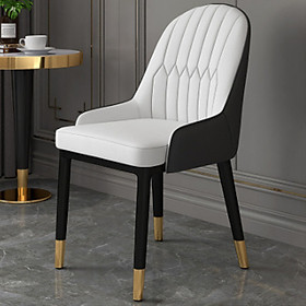 Ghế ăn bọc da - Ghế cafe , ghế phòng ăn , chân sắt sơn tĩnh điện
