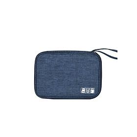 Túi đựng phụ kiện vải Kaki chống thấm tiện dụng có móc treo AV049
