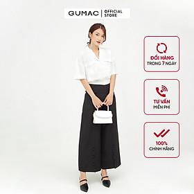 Quần ống rộng nữ thiết kế phối nút GUMAC QB530