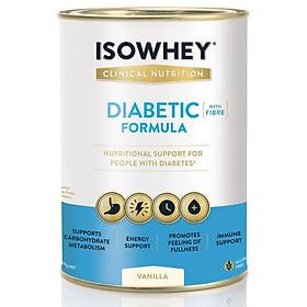 Sữa bột IsoWhey Công thức dinh dưỡng cho bệnh nhân tiểu đường Vanilla 640g Nhập Khẩu Úc