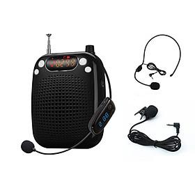 Mic trợ giảng cao cấp UHF xịn có 3 Mic (ko dây + có dây + mic cổ áo) cho Giáo viên MC AS611
