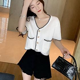 Summer new ladies temperament short woven thin short-sleeved cardigan tide