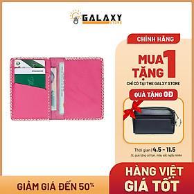 Ví Nữ Nhỏ Handmade Da Thật Galaxy Store GVM05 (Hồng)