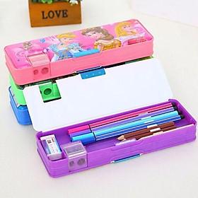 Hộp đựng bút kèm gọt chì cho bé mẫu hoạt hình Hộp đựng bút cho con đi học