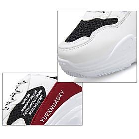 Giày Nam Thể Thao Sneaker Trắng Vải Dệt Đế Cao Su Nguyên Khối Siêu Êm Chân Phối Đen Đỏ Cực Chất Phong Cách Hàn Quốc (Hình thật) CTS-GN052-17