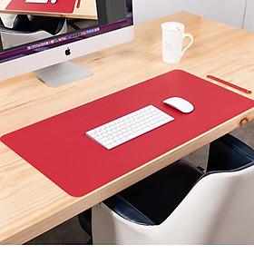 Miếng lót chuột, bàn di chuột 90 X 45 CM kiêm deskpad thảm da trải bàn làm việc chống nước hai mặt