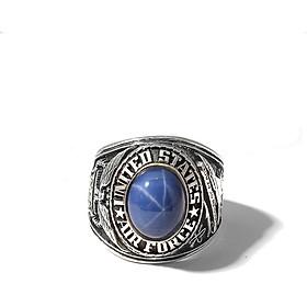 Nhẫn Mỹ Đại Bàng Đá Sapphire Blue Sao