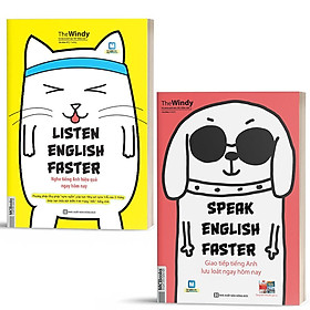 Sách - Combo 2 Cuốn Nghe Nói Tiếng Anh Hiệu Quả Ngay Hôm Nay - Listening & Speaking English Faster