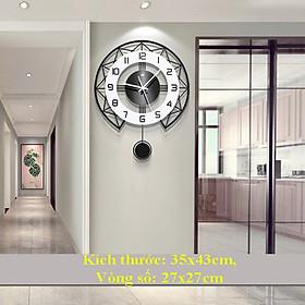 Đồng Hồ Treo Tường, Trang Trí Nhà Cửa Kim Trôi Cao Cấp Trang Trí Phòng Khách, Phòng Ngủ, Phòng Ăn - Đồng Hồ Treo Tường Số 3D Dùng Pin