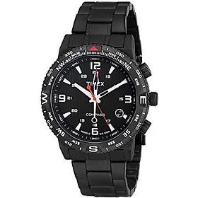 Timex Men's T2P288 Intelligent Quartz Adventure Series Black Stainless Steel Watch