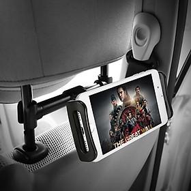 Giá đỡ điện thoại, ipad kẹp sau ghế ô tô điều chỉnh 360