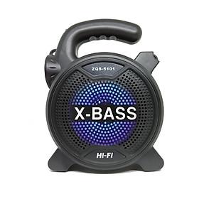 Loa Bluetooth Karaoke tích hợp đèn pin ZQS-5101Kèm micro karaoke có dây - Hàng nhập khẩu