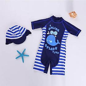 Bộ bơi trẻ em hình cá voi kèm mũ che gáy từ 2 đến 8 tuổi
