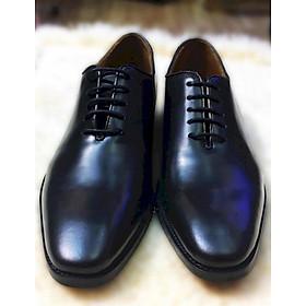 Giày tây nam da bò ý siêu mềm đánh patina màu đen