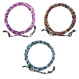 3-pack Beaded Eyewear Chain Holder Lanyard Retainer Reading Glasses Straps