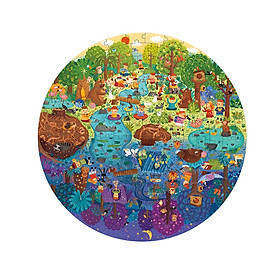 Ghép hình Một ngày ở trong rừng - A Day in the Forest - Đồ chơi ghép hình Chính hãng Mideer