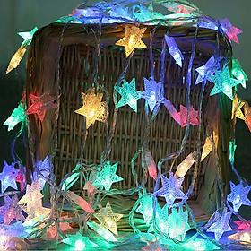 Đèn Led Trang Trí Ngôi Sao Dài 3M - 20 Bóng Chớp Màu Trang Trí Noel Lễ Tết