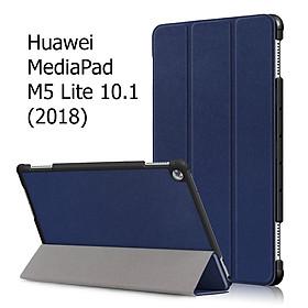 Bao Da Cover Cho Máy Tính Bảng Huawei MediaPad M5 Lite 10.1 (2018) Hỗ Trợ Smart Cover