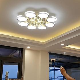Đèn chùm pha lê phòng khách, đèn mâm ốp trần trang trí - OPLADY058