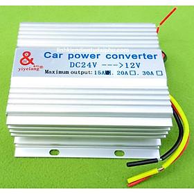 Bộ chuyển đổi nguồn 24V xuống 12V dòng 15A 180W dùng trên xe hơi