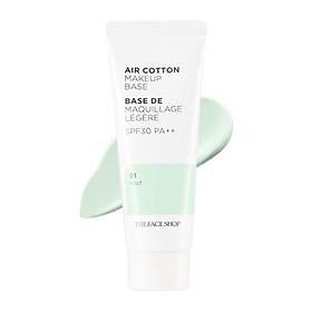 The Face Shop Air-Cotton Cream 01 Mint Green SPF30/PA++ 35g