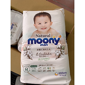 Gói bỉm bông Moony Natural M quần