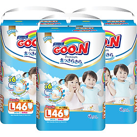 Combo 3 Gói Tã Quần Goo.n Premium Cực Đại L46 (46 Miếng) - Tặng 1 Tã Quần Đại L24 (24 Miếng)-1