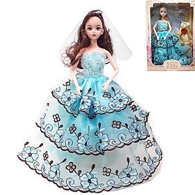 Hộp đồ chơi Búp bê barbie khớp Cô dâu, công chúa kèm phụ kiện búp bê cho bé (giao mẫu ngẫu nhiên)
