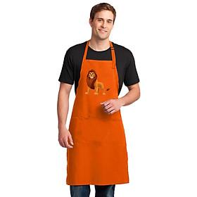 Tạp Dề Làm Bếp In Hình Sư Tử Chúa Sơn Lâm Hoạt Hình Đẹp - Mẫu001
