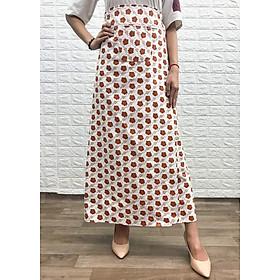 Váy chống nắng loại xẻ 2 tà chất liệu KAKI hoa văn cao cấp  VKXT001 
