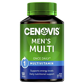 Cenovis Once Daily Mens Multivitamins & Minerals 50 Capsules