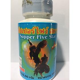 Thuốc bổ gân Supper five star màu xanh cho gà tre gà chọi hàng thái lan
