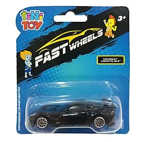 Đồ Chơi Xe Tốc Độ FastWheels 3 Inch - 342000S - Chevrolet Corvette C6.R - Màu Đen