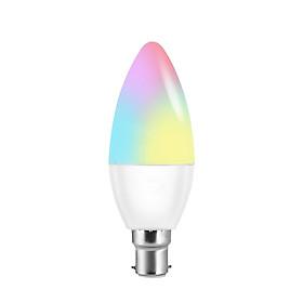 Bóng Đèn LED Dạng Nến RGB+W Thông Minh Điều Khiển Từ Xa Bằng Wifi Điện Thoại Với Hệ Thống Tương Thích V16-C E27 (6W)