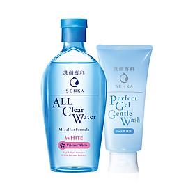 Bộ đôi nước tẩy trang và gel rửa mặt dịu nhẹ Senka