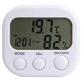 Digital Hygrometer Thermometer Indoor Humidity Meter Mini Room Thermometer Accurate Humidity Gauge with Alarm Clock