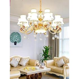 Đèn Chùm 15 Tay Đá  Đúc Đặc Phù Hợp Trang Trí Phòng Khách, Nhà Hàng, Khách Sạn
