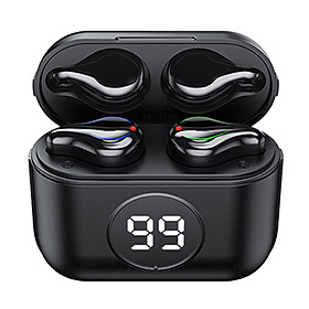 True Wireless Earbuds Bluetooth Headphones Touch Control with LED Display Charging Case IPX7 Waterproof Earphones in-Ear Built-in Mic Headset
