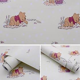 5M Giấy Dán Tường -Decal dán tường Gấu Pooh Vàng