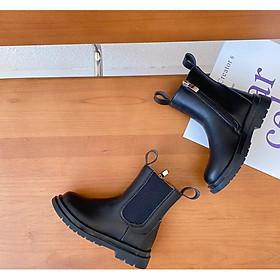 Giày da Boot cổ thun cho bé G789