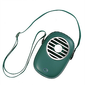 USB Mini Portable Fan with Strap Hanging Neck/Desktop/Handheld Fan 3-Wind Speed 30dB Low Noise Type-C Interface 1200mAh